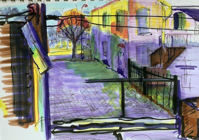 Chicago neighborhood sketch